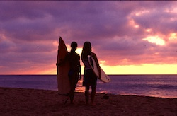 Surfing-Punta-Mita-Sunset-Two-Surfers