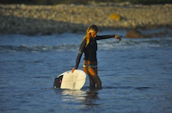 Surfing-Punta-Mita-Surfer-Girl-Sunset